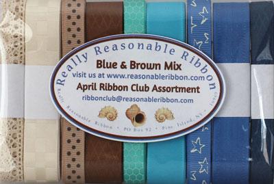 Blue & Brown Ribbon Assortment