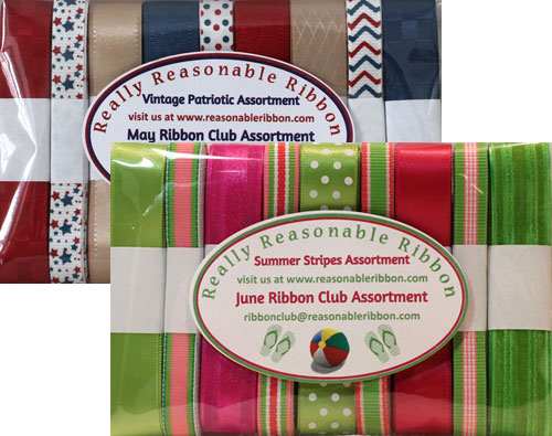 Monthly Ribbon Club, Domestic SPECIAL DEAL!  USA Customers * LIMITED TIME OFFER*