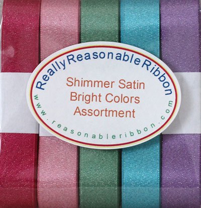 Shimmer Satin Ribbon Assortment Brights