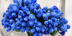 Bead Berry Spray Clusters Royal Blue