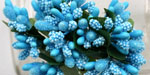Bead Berry Spray Clusters Turquoise