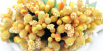 Bead Berry Spray Clusters Yellow
