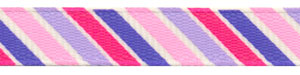 Pink & Purple Bold Diagonal Striped Grosgrain Ribbon Spool SALE!