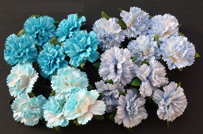 Wild Orchid Crafts Carnations Mixed Blue