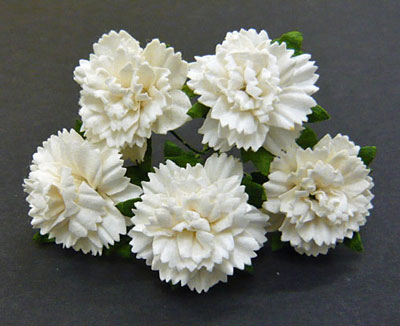 Wild Orchid Crafts Carnations Off-White RESTOCKED!