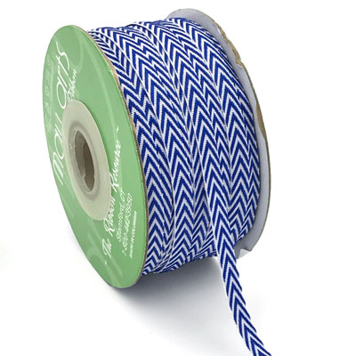 "1/4"" Chevron Striped Twill Royal Blue"