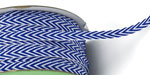 "1/4"" Chevron Striped Twill Royal Blue NEW COLOR!"