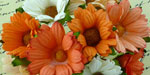 Wild Orchid Craft Chrysanthemums Mixed Peach/Orange/White
