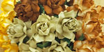 Wild Orchid Craft 25mm Cottage Roses Mixed Earth Tones RESTOCKED!