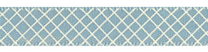 Crosshatch on Nile Blue Satin Ribbon