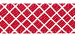 Crosshatch on Red Satin Ribbon