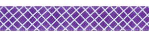 Crosshatch on Regal Purple Satin Ribbon