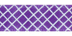 Crosshatch on Regal Purple Satin Ribbon