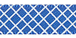 Crosshatch on Royal Blue Satin Ribbon