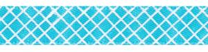 Crosshatch on Turquoise Satin Ribbon