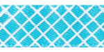 Crosshatch on Turquoise Satin Ribbon