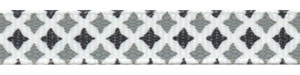 Black and Gray Diamond Print Grosgrain Spool SALE!
