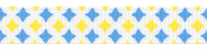 Blue & Yellow Diamond Print Grosgrain HALF OFF!