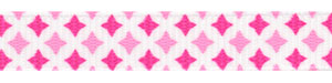 Mixed Pink Diamond Print Grosgrain
