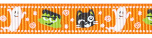 Halloween Critters on Tangerine Grosgrain Ribbon Spool SALE!