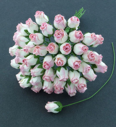 10 x 12 mm Rose Bud 2-Tone Pink