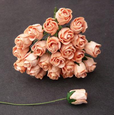 10 x 12 mm Rose Bud Peach