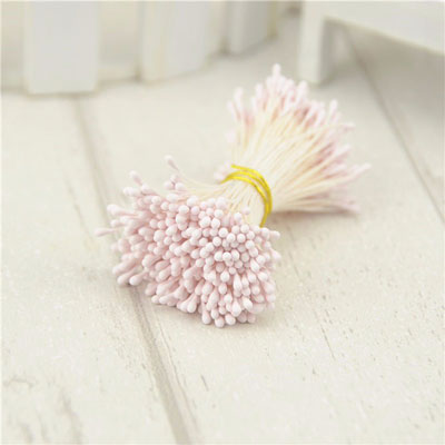 Double Head Mini Stamens Light Pink
