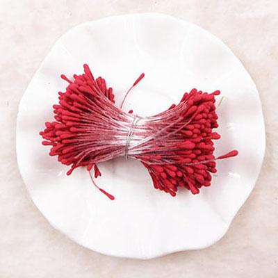 Double Head Mini Stamens Red