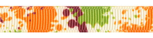 Autumn Paint Splatter on Ivory Grosgrain Ribbon SALE!
