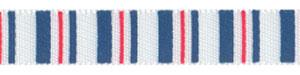 "Patriotic Vertical Striped Print on 3/8"" Satin Ribbon"