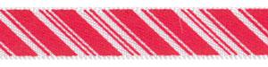 Peppermint Stick Satin Ribbon