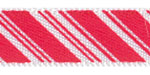 Peppermint Stick Satin Ribbon