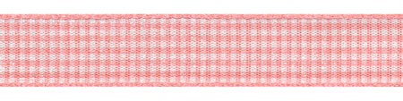 Plaid Ribbon Coral Rose Mini-Check