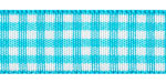 Plaid Ribbon Misty Turquoise