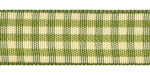 Plaid Ribbon Moss/Cream