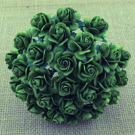 Wild Orchid Crafts Open Roses Dark Green