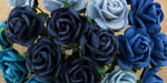 Wild Orchid Craft 20mm Open Roses Mixed Blue