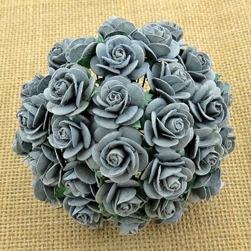 Wild Orchid Crafts Open Roses Parma Gray
