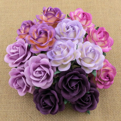Wild Orchid Crafts 35mmTrellis Roses Mixed Purple/Lilac