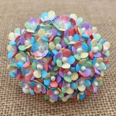 Wild Orchid Craft Miniature Sweetheart Blossoms Mixed Rainbow