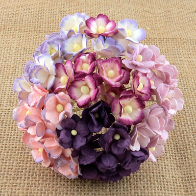 Wild Orchid Craft Sweetheart Blossoms Mixed Purple/Lilac