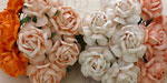 Wild Orchid Crafts 40mm Tea Roses Mixed Peach/Orange