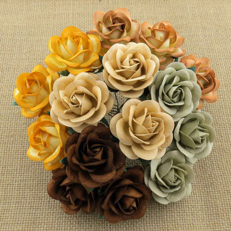 Wild Orchid Crafts 35mmTrellis Roses Mixed Earth Tone RESTOCKED!