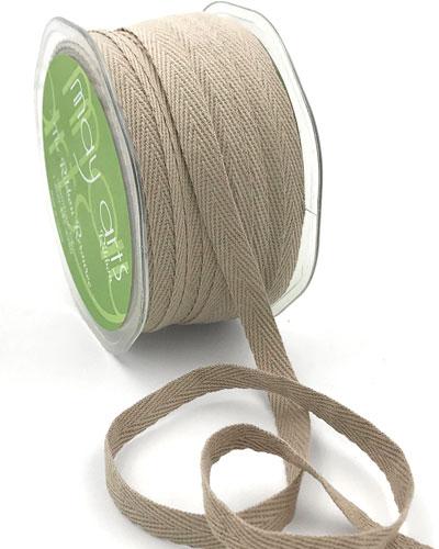 "3/8"" Cotton Twill  Ribbon Natural"