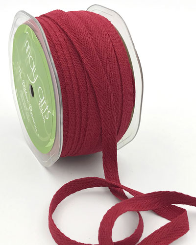"3/8"" Cotton Twill  Ribbon Red"