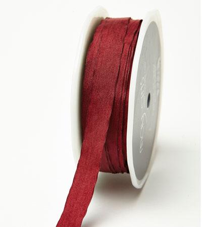 """1/2"""" Burgundy Wrinkled Ribbon"""
