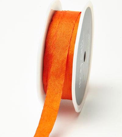"1/2"" Orange Wrinkled Ribbon"