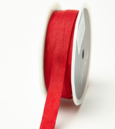 "1/2"" Red Wrinkled Ribbon"