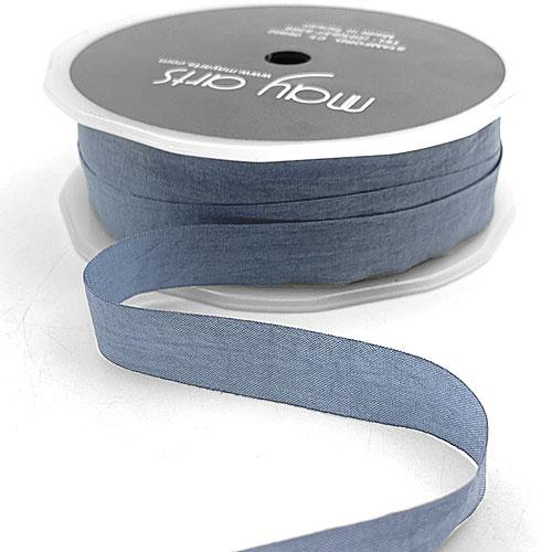 "1/2"" Slate Blue Wrinkled Ribbon"