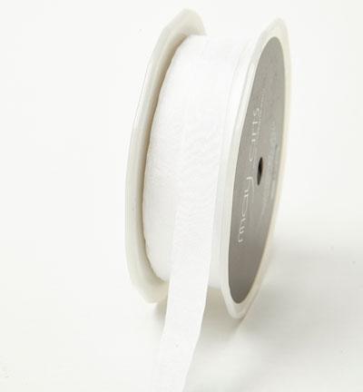 """1/2"""" White Wrinkled Ribbon"""